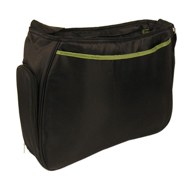Trend Lab Diaper Bag - Hobo Black/Avocado