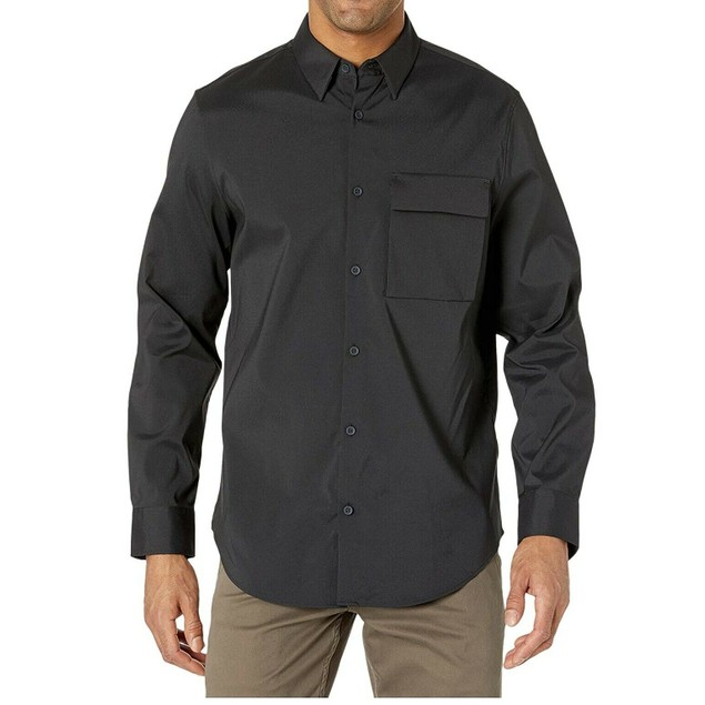 Calvin Klein Men's Utility Shirt Charcoal Size XX-Large