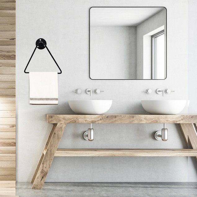 Triangle Pipe Hand Towel Rack Wall Mounted Towel Holder