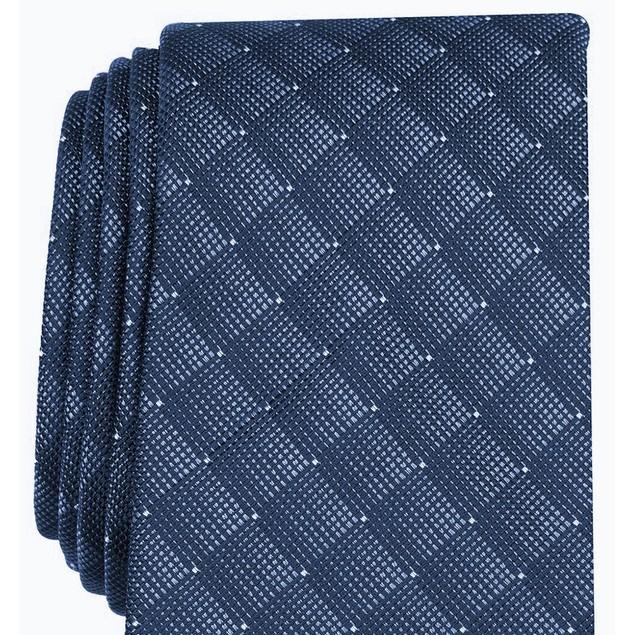 Alfani Men's Slim Geometric Tie Navy Size Regular