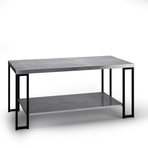 Costway Accent Coffee Table Modern Living Room Furniture Metal Frame w/Lowe