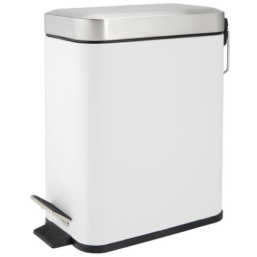 mDesign Step Trash Can, Gallon Garbage Bin, Removable Liner Bucket