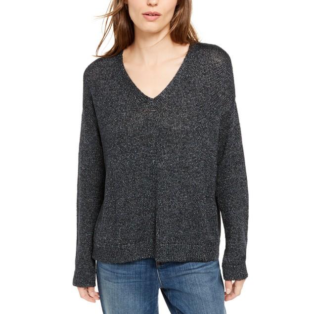Eileen Fisher Women's V-Neck Sweater Black Size Large
