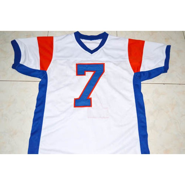 Alex Moran #7 White Football Jersey