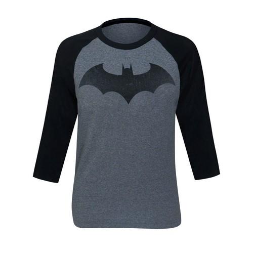 Batman Hush Distressed Symbol Baseball T-Shirt