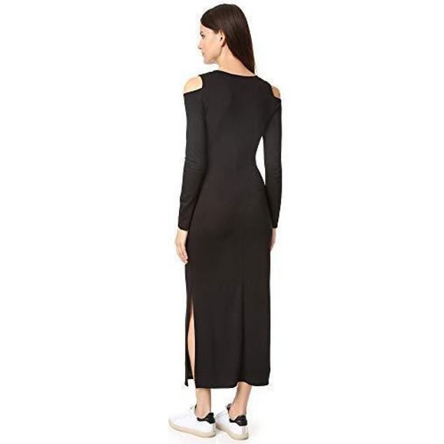 LANSTON WOMENS COLD SHOULDER SPLIT MAXI DRESS SIZE SMALL
