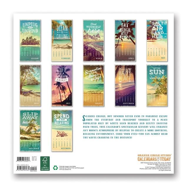 Take Me Back to Paradise Wall Calendar, Beaches by Orange Circle Studio
