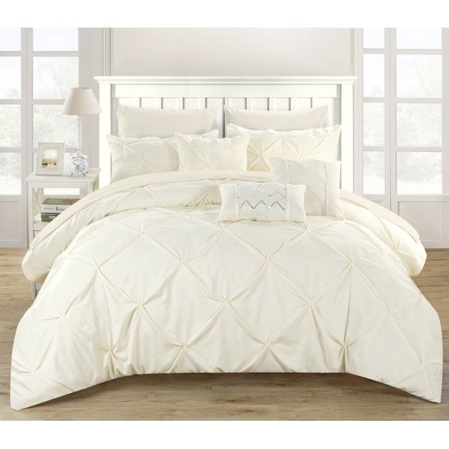 Chic Home 10 Piece Sabrina Pinch Pleated Comforter Set