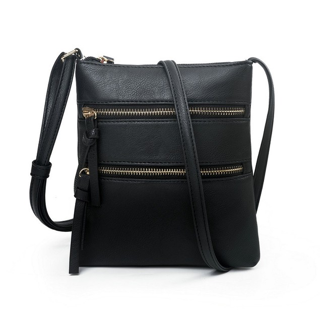 Multifunctional Double Zipper One-shoulder Messenger Bag