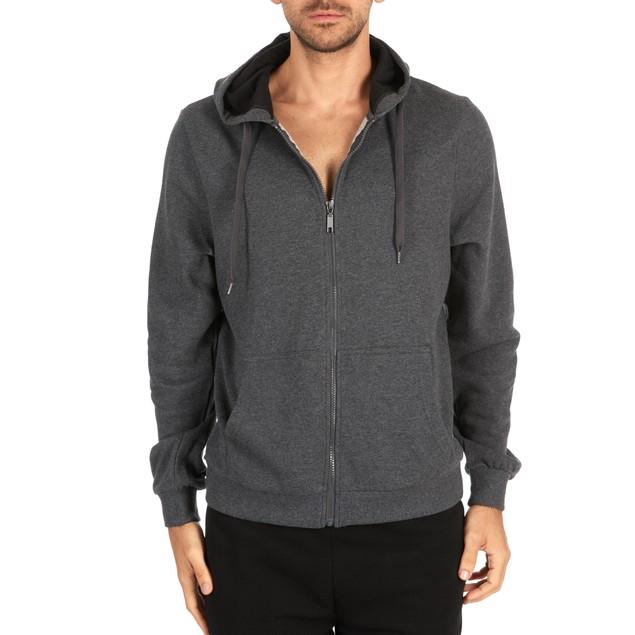 Men's Fleece Cotton-Blend Full Zip Hoodie
