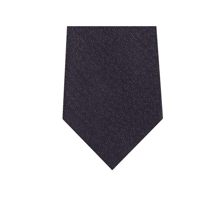 Calvin Klein Men's Classic Metallic Solid Tie Black Size Regular