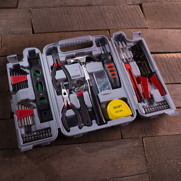 Household Hand Tools, 130 Piece Tool Set by Stalwart, Set