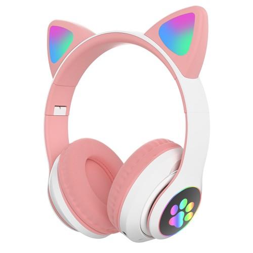 Wireless Bluetooth Headphone Head-Mounted with Microphone Cat Ear