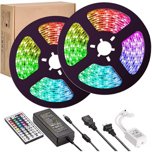 LED Strip Lights 32.8 feet Flexible Strip Light Multi-Color Changing for Ceiling Bar Counter Cabinet Decoration
