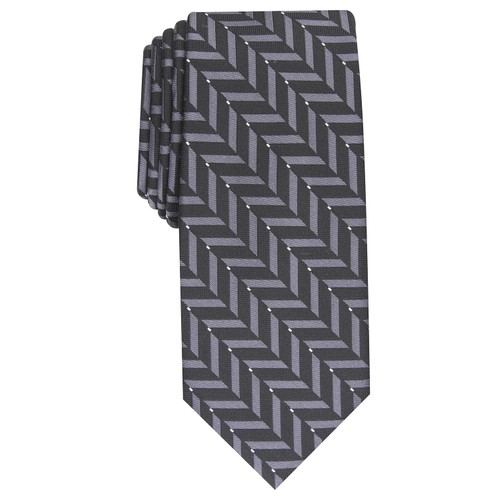 Alfani Men's Slim Geometric Tie Navy Size Regular