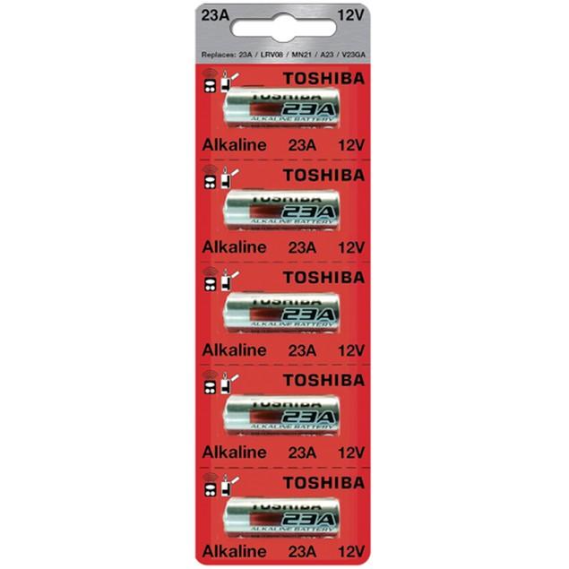 Toshiba 23A 12V Alkaline Battery (5 Batteries)