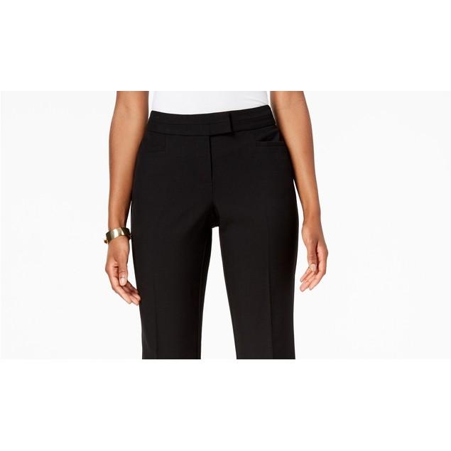 JM Collection Women's Petite Tummy Control Trousers Black Size 2