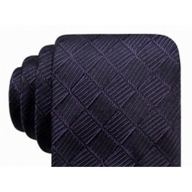 Ryan Seacrest Distinction Men's Franco Geo Silk Tie Purple Size Regular