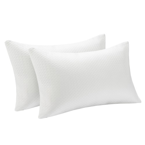 Costway 2Pack Shredded Memory Foam Bed Pillows Bamboo Cooling Cover 28''x18