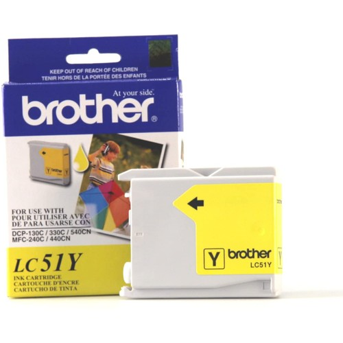 Brothers Brother Innobella LC51Y Ink Cartridge, 400 Page Yield, Yellow