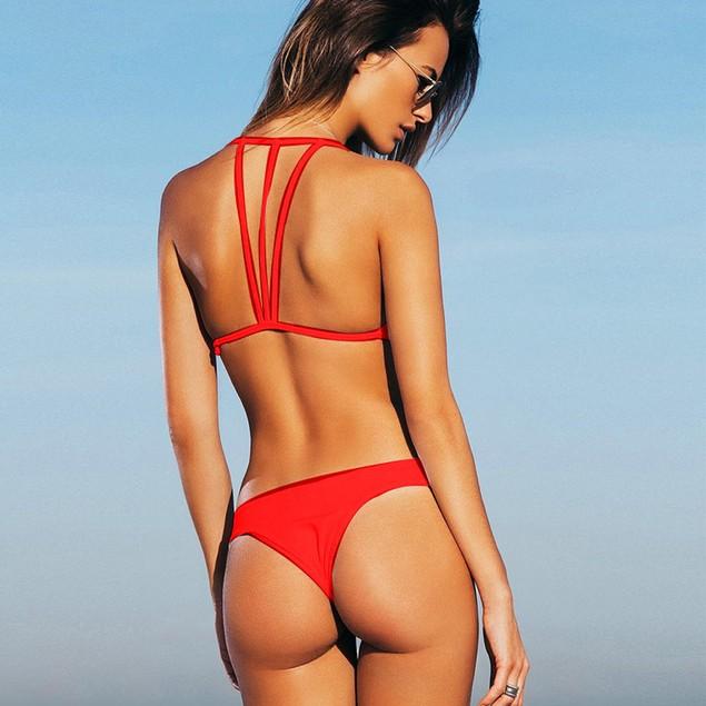 Fashion Women Sexy Push-Up Padded Bra Beach  Bikini Set Swimsuit  Swimwear