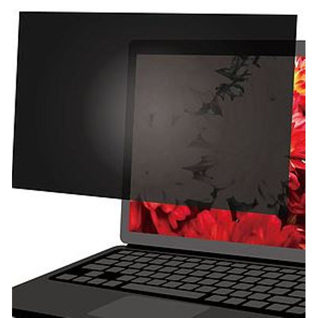 """PRIVACY SCREEN FILTER 16:9 ASPECT RATIO WIDESCREEN BLACKOUT 15.6"""" IN"""
