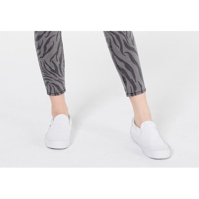Tinseltown Juniors' Zebra-Print Skinny Jeans Gray Size 9