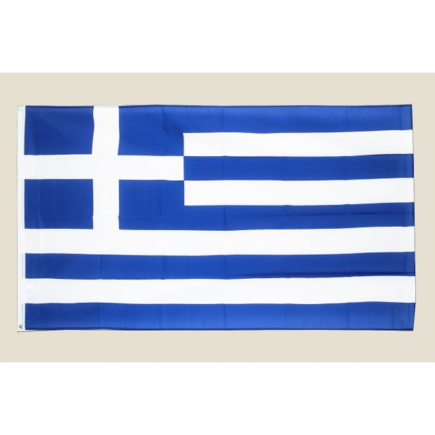Greece 3x5 Flag Blue White Polyester 2 Brass Grommets Country Greek Grecian