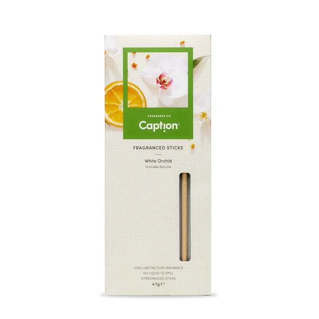 Enviroscent Caption Fragranced Diffuser Sticks, 6 Count, White Orchid