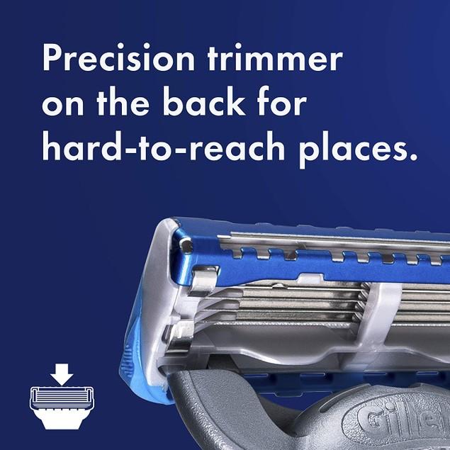 Gillette Fusion5 Proglide 1 Razor, 4 Refill Blade Cartridges, 1 Travel Case