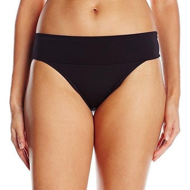 NWT Seafolly Women's Roll Top Pant Bikini Bottom, Black, US SIZE 6