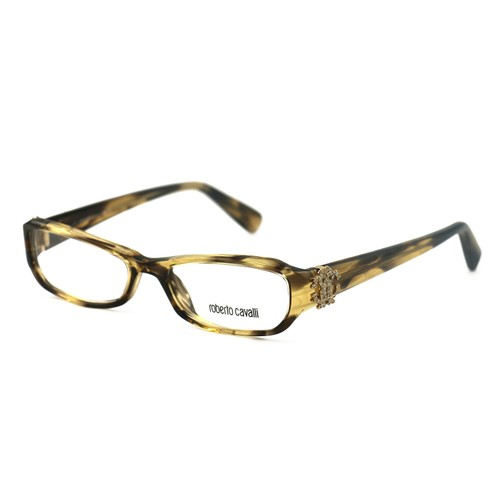 Roberto Cavalli Women's Eyeglasses RC0484 050 Brown 52 16 135 Full-Rim Oval