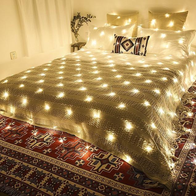 1.5 X 1.5M 96LED Indoor/ Outdoor Waterproof LED Net Mesh String Light