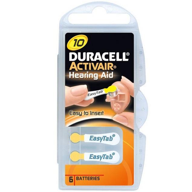 Duracell Activair Size 10 Zinc Air Hearing Aid Batteries (60 pack)