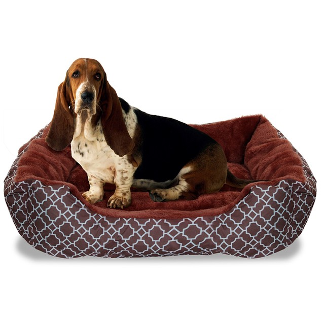 "Deluxe Ultra-Soft 22"" x 18"" Comfy Pooch Lattice Pet Bed"