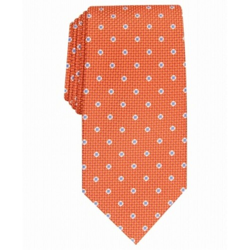 Perry Ellis Men's Howland Neat Tie Orange Size Regular