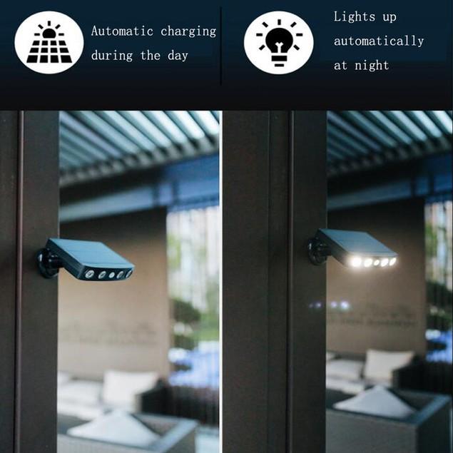 Solar Power Wall Light Outdoor Waterproof Monitoring Motion Sensor Lights