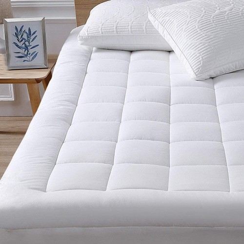 """Premium Mattress Pad Cover, Stretches to 18"""" for Deep Mattresses, New Cooling Technology"""
