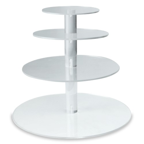 Pukkr Acrylic Cupcake Stand 4 Tier