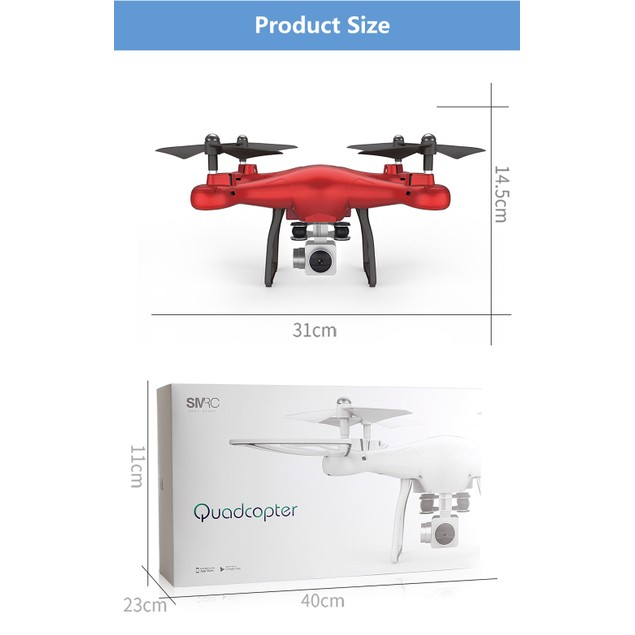 Altitude Hold SMRC S10W-G 120 Quadcopter Drone 720P Camera Helicopter