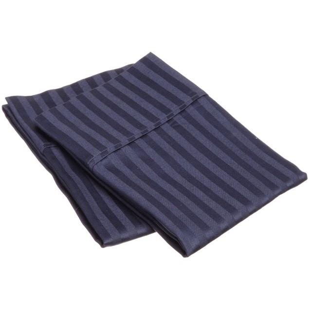 300-Thread Count 2-Piece Striped Egyptian Cotton Pillowcase Set