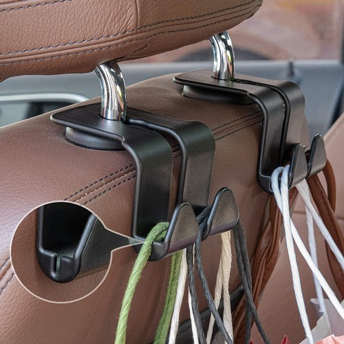2 Pack: Multi-functional Vehicle Back Seat Hook