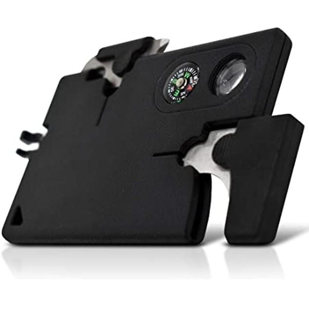 "BIGTREE Multitool card - 9 Tools, Black, 2"""" Blade"