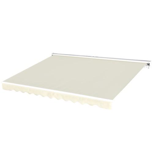 11.8'x9.8' Outdoor Patio Motorised Retractable Awning Window Sunshade, R/C