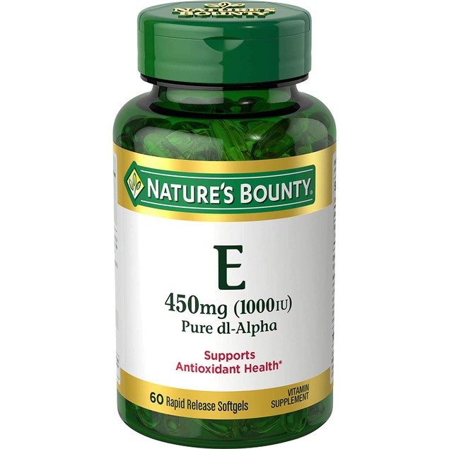 Nature's Bounty Vitamin E, Helps Supports Immune Function, 450 Mg, 60