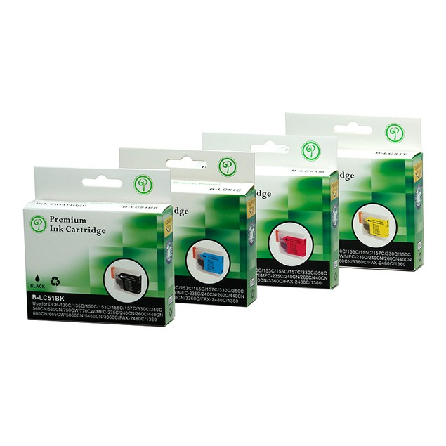 Brother LC51 Compatible Ink - 4 pack
