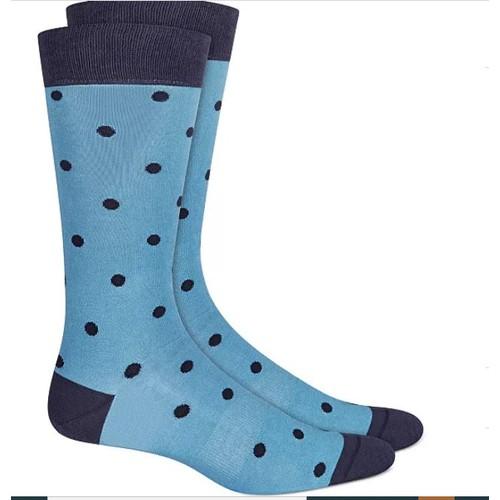 Bar III Men's Polka Dot Socks Navy Size Regular