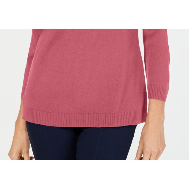 Karen Scott Women's V-Neck Sweater Pink Size X-Small
