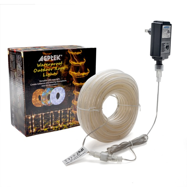 COPPER WIRE STRING ROPE LIGHTS 23M 75.5FT 200LED 8 MODES WARM WHITE COLOR