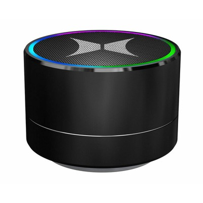 Xtreme Sound HELIX Mini Round Light-Up Premium Alloy Body Bluetooth Speaker